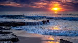 ocean sunset 4k ultra hd wallpaper