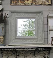 tin ceiling tile mirror antique