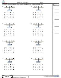 balancing equations worksheets free