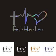 Peace Love Faith Sticker Car Window Religious Vinyl Decal Cute Heart Hope Cross