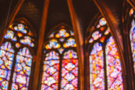 the dazzling stained glass windows of