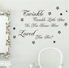 popular song twinkle twinkle little star lyric quote wall stickers