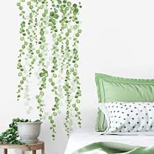 Roommates Rmk3903scs String Of Pearls Vine Peel And Stick Wall Decals Green White 2 Sheets At 9 Inches X 36 5 Inches Amazon Com