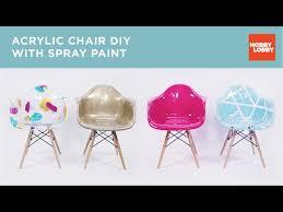 acrylic chair diy with spray paint