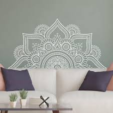 New Design Half Mandala Wall Stickers For Bedroom Home Decor Headboard Vinyl Decals Flower Mandala Wall Decal Yoga Wall Lc1196 Y200103 Wall Vinyl Wall Vinyl Decal From Shanye10 9 93 Dhgate Com