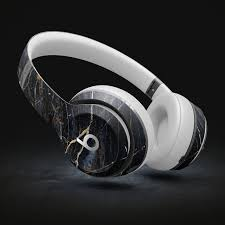 Dark Natural Marble Surface Decal Skin Kit For Beats By Dre Etsy