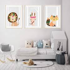 2020 Baby Indian Animal Art Prints For Kids Bedroom Cartoon Lion Rabbit Fox Drawings Wall Picture Paintings Nursery Decor Gifts Unframed From Maggiequan 11 75 Dhgate Com