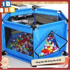 Đồ chơi trẻ em☘Free ship☘Quây bóng vải dù, khung inox cho bé ...