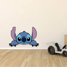 Design With Vinyl Lilo And Stitch Adorable Disney Character Wall Decal Wayfair