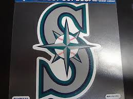 Seattle Mariners Colored Window Die Cut Decal Wincraft Sticker 8x8 Mlb Sports City Hats