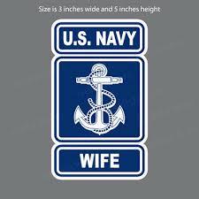 Nv 4046 Navy Wife Usn Military Car Bumper Sticker Vinyl Window Decal Ebay
