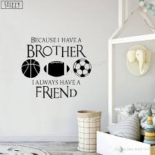 Stizzy Wall Decal Baseball Soccer Football Boys Bedroom Vinyl Wall Stickers Quotes Brother Friend Kids Room Sport Decor Diy B582 Wall Stickers Aliexpress