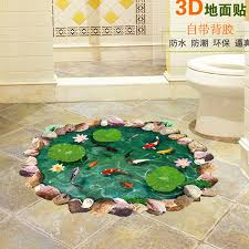 Lotus Pond Fish Pool 3d Wall Sticker For Kids Children Baby Room Home Decorations Personalized Floor Wall Sticker Decals Wall Stickers For Bedrooms Wall Stickers For Boys From Xumeng1688 2 8 Dhgate Com