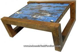 rustic wood furniture coffee table