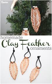 homemade clay ornaments brushed gold