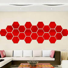 12x Set Wall Stickers 3d Mirror Hexagon Vinyl Removable Decal Home Decor Art Jn Fashion Ho In 2020 Wall Stickers Living Room Wall Decor Stickers Mirror Wall Stickers