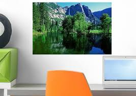 Amazon Com Wallmonkeys Yosemite National Park Wall Decal Peel And Stick Graphic Wm24674 18 In W X 12 In H Home Kitchen
