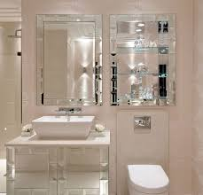 luxe designer tiffany mirror bathroom