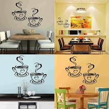 Mayitr Coffee Cups Cafe Tea Wall Stickers Beautiful Art Vinyl Decal Kitchen Restaurant Pub Decor New Childrens Removable Wall Stickers Childrens Wall Decals From Honey Home 2 56 Dhgate Com