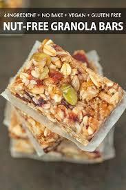 4 ing no bake granola bars