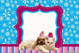 Perro Y Gato En Navidad Invitaciones Para Imprimir Gratis Ideas Y Material Gratis Para Fiestas Y Celebraciones Oh My Fiesta
