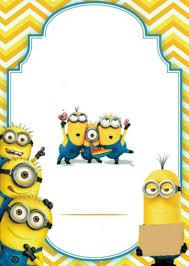Minions Con Imagenes Tarjetas Tarjetas De Invitacion