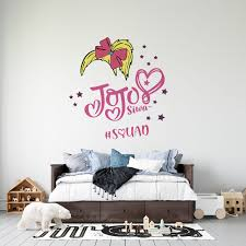 Jojo Siwa Hair Ribbon Vinyl Wall Decal 22 X 28 Adhesive Girls Kids Bedroom Young Youtuber Singer Dancer And Actress Decor Design Removable Home Lettering Art Decoration Sticker Walmart Com