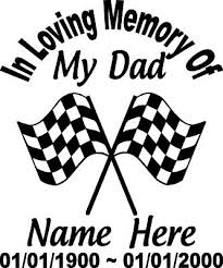 In Loving Memory Of 12 Dad Checkered Flag Racing Decal Window Personalized Car Ebay