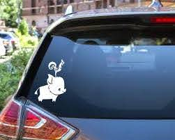 Pua And Heihei Decal Pig Rooster Moana Car Decal Etsy