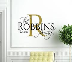 Family Name Wall Decal Vinyl Home Decor Personalized Living Room Decoration Customvinyldecor Com