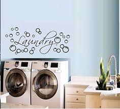 Decal Laundry With Bubbles 3 Wall Decal Home Decor 12 X 28 Walmart Com Walmart Com