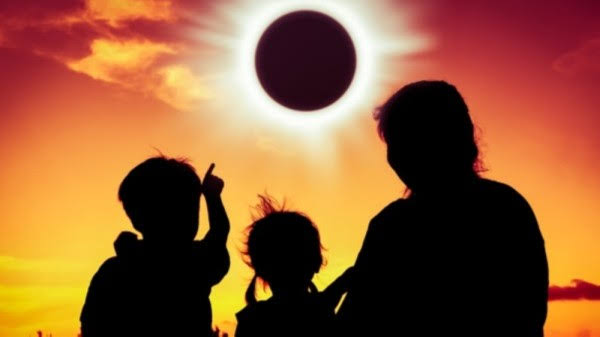 Image result for watching solar eclipse 2019