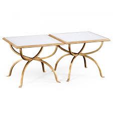 luxury 2 piece coffee table set glass