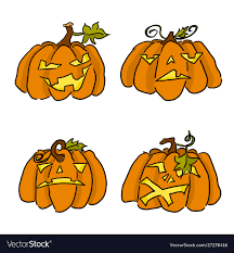 Halloween pumpkin doodle drawing with ...