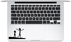 Amazon Com Trackpad Rick And Morty Apple Macbook Laptop Vinyl Sticker Decal Kitchen Dining