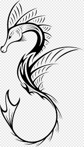 Tattoo Henna Idea Drawing Seahorse Seahorse Animals Leaf Png Pngegg