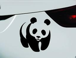 Amazon Com Expressdecor Panda Bear Symbol Decal Funny Car Truck Sticker Window Black Automotive