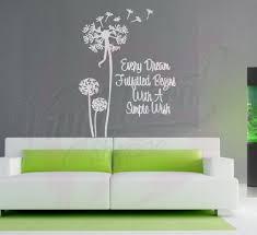 Dandelion Inspirational Quote Large Wall Decal Wall Decal Dandelion Decal Dandelion Wall Decal Living Room Decor Custom Wall Decor