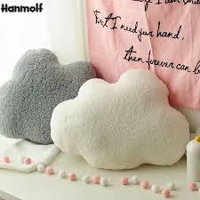 Soft Cloud Shape Plush Stuffed Pillow Decorative Nature Throw Pillow Kids Room Sofa Bar Shop Chair Pillow White Gray 60 45cm Plush Pillows Aliexpress