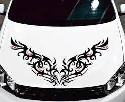 Tribal Hearts Decal Vinyl Graphic Hood Car Hoods Decals And Heart Decals Tribal Heart Car Bling