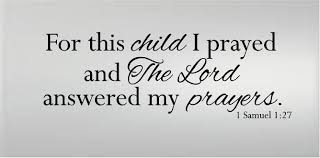 1 Samuel 1 27 Bible Baby Nursery Wall Decal For This Child We Prayed For Sale Online Ebay
