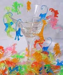 plastic mixed animal cocktail drink