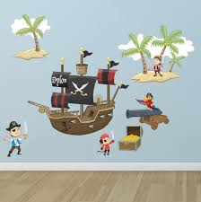 Pirate Room Wall Mural To Design A Fantastic Kids Room Theme