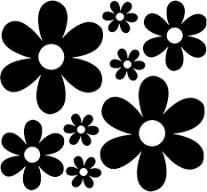 Amazon Com Groovy Daisy Flowers Vinyl Decal Sticker Bumper Car Truck Window 6 Wide Rainbow Holographic Color Arts Crafts Sewing
