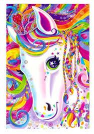 Lisa Frank Majesty The Rainbow Horse Postcard Via Etsy Lisa Frank Stickers Lisa Frank Unicorn Lisa Frank