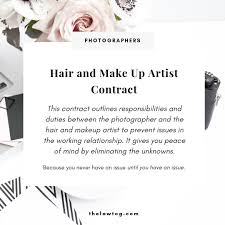 make up artist contract template