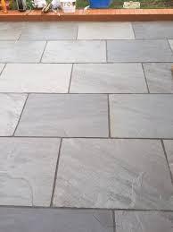 silver grey indian sandstone paving