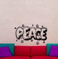 Brayden Studio Melfa Graffiti Peace Wall Decal Wayfair