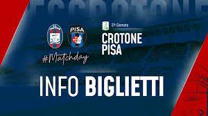 CrotonePisa, info biglietti