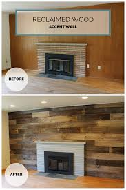 Reclaimed Wood Wall Painted Fireplace And Old Cedar Fence Boards Reclaimed Wood Wall Cedar Fence Boards Living Room Decor Tips